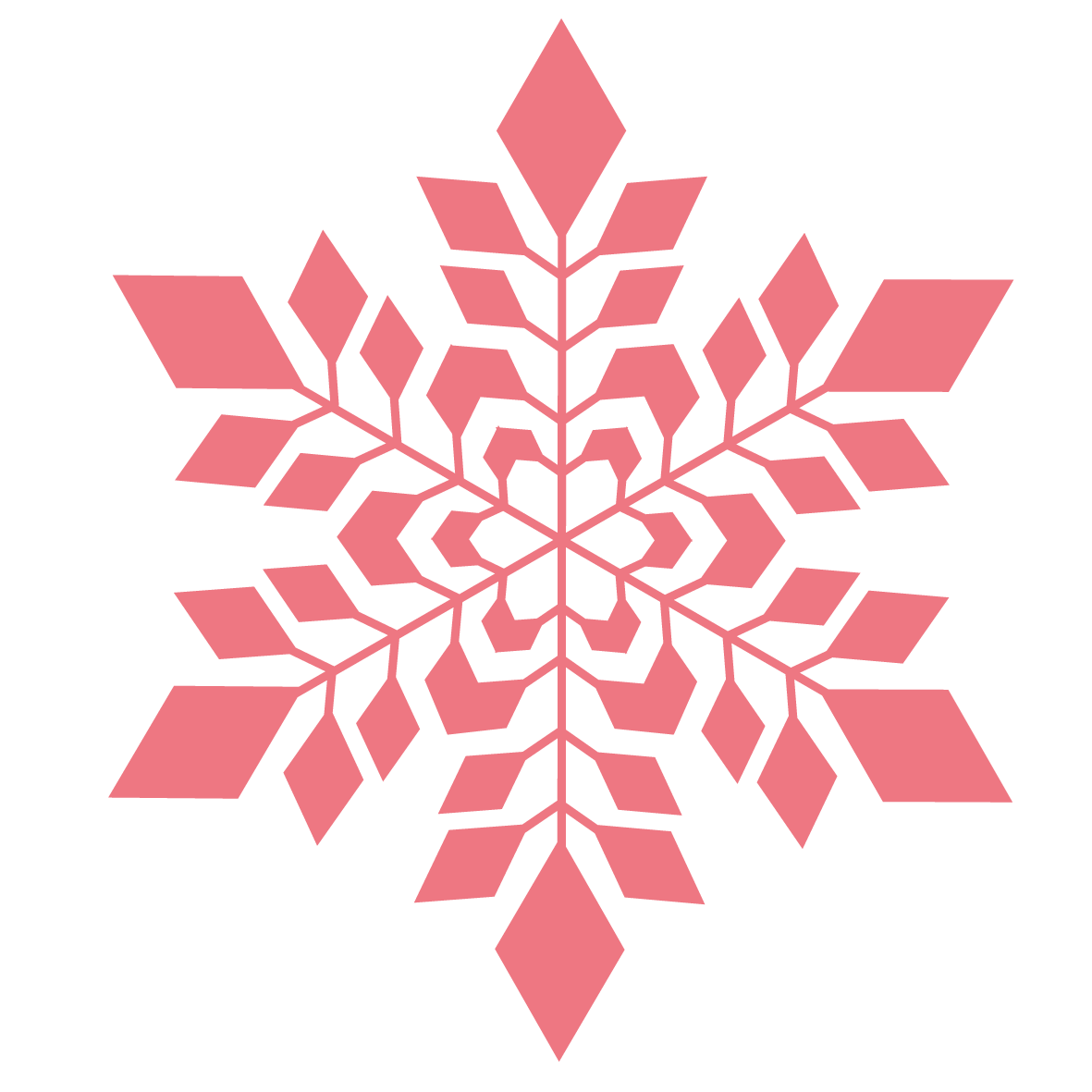 snowflakes png red