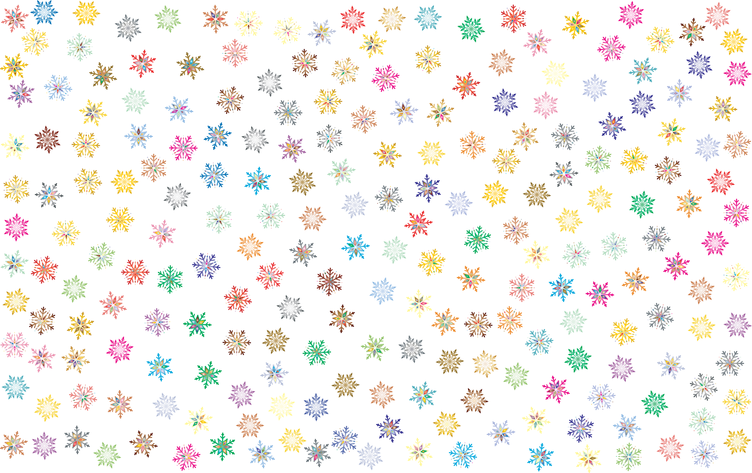 Snowflakes background png. Prismatic pattern no icons
