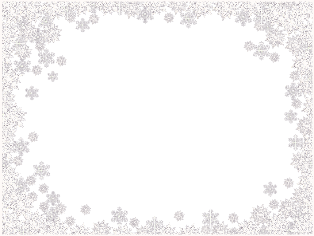snowflakes frame png