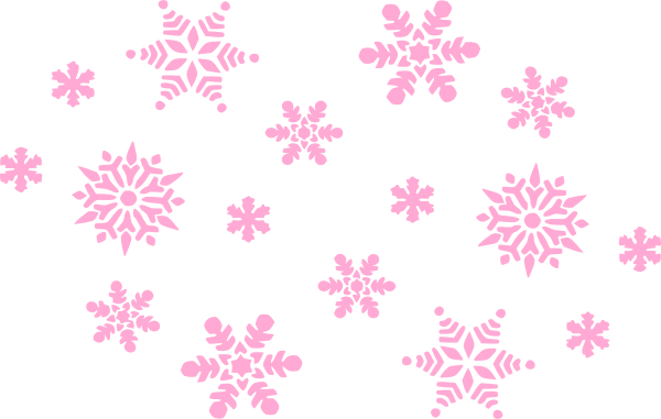Snowflakes background png. Pale pink clip art