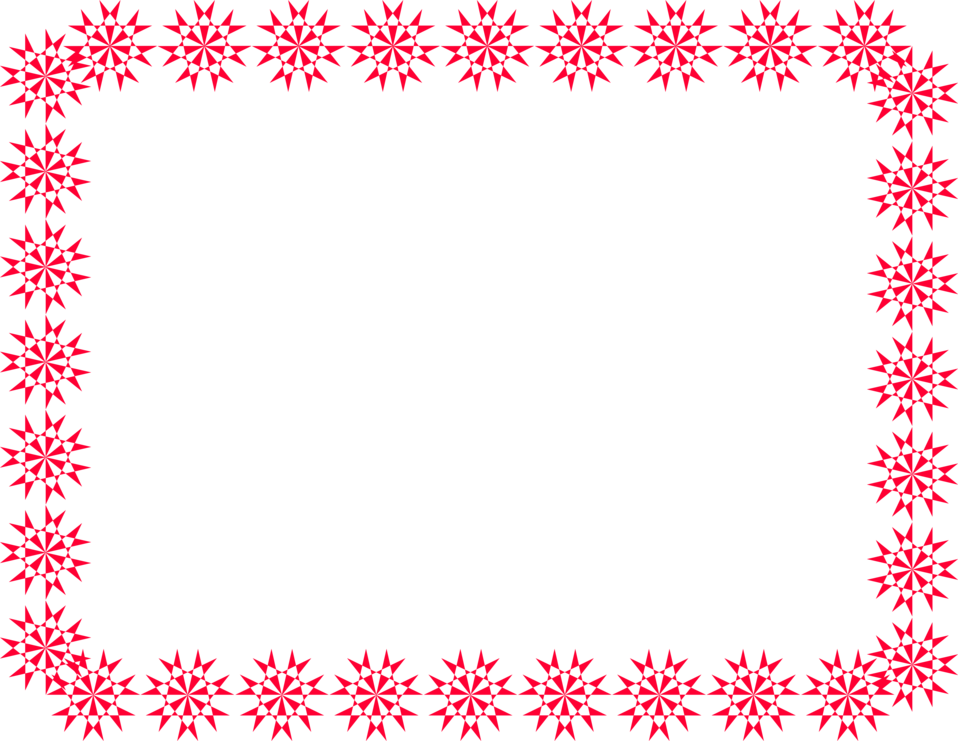 Snowflakes border png. Red free stock photo