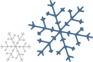 Snowflakes clip. Art at clker com