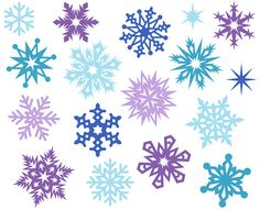 Snowflakes clipart. Snowflake background clip art