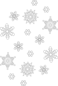 Snowflakes clipart black and white. Snowflake clip art at