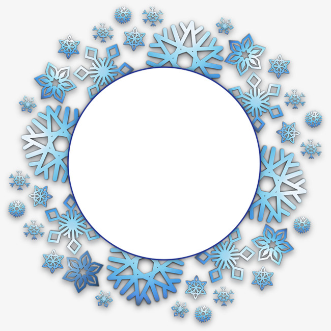 Snowflakes clipart circle. Christmas free pictures snowflake