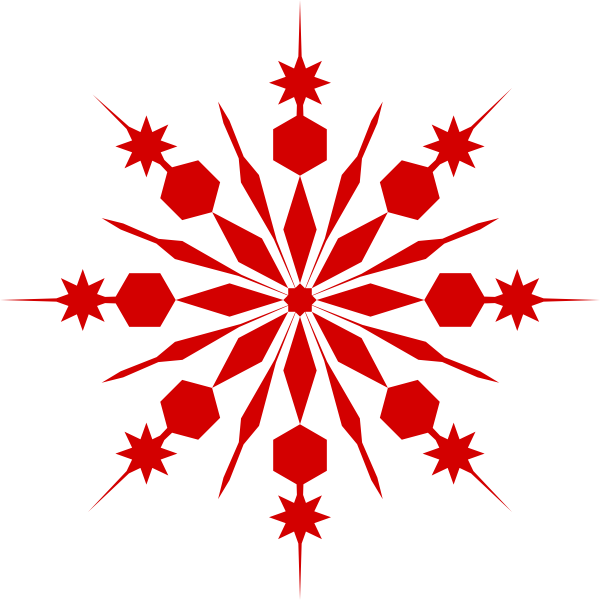 Snowflakes clipart red. White snowflake transparent background