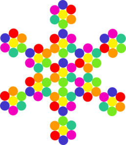 Snowflakes clipart colorful. Free snowflake cliparts download