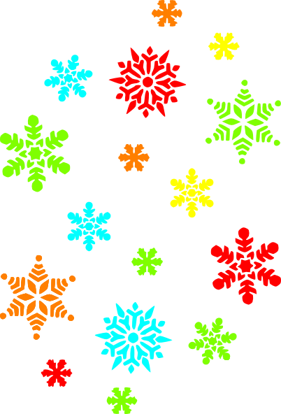 Snowflakes clipart colorful. Clip art at clker