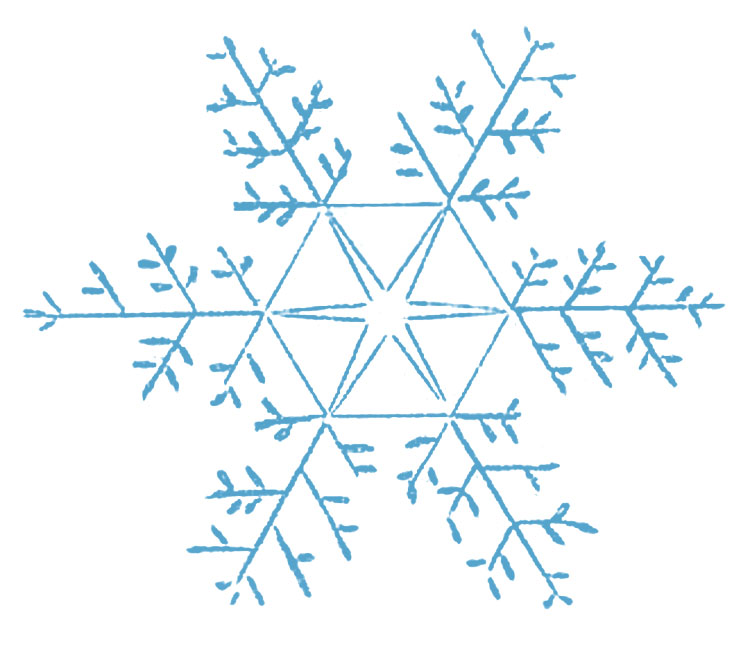 Snowflakes clipart country. Snowflake pencil and in