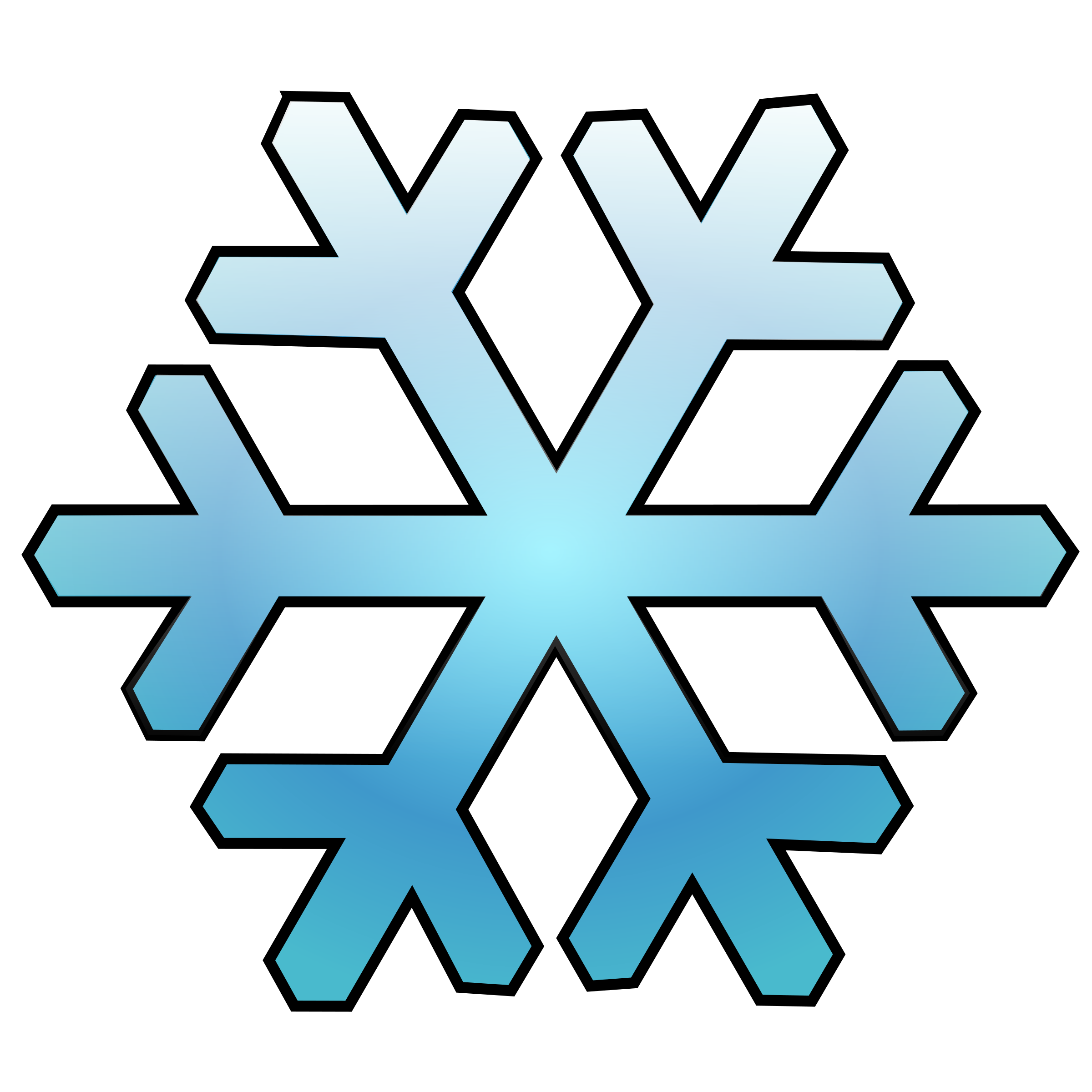 Prset vector simple. Clipart snowflake big image