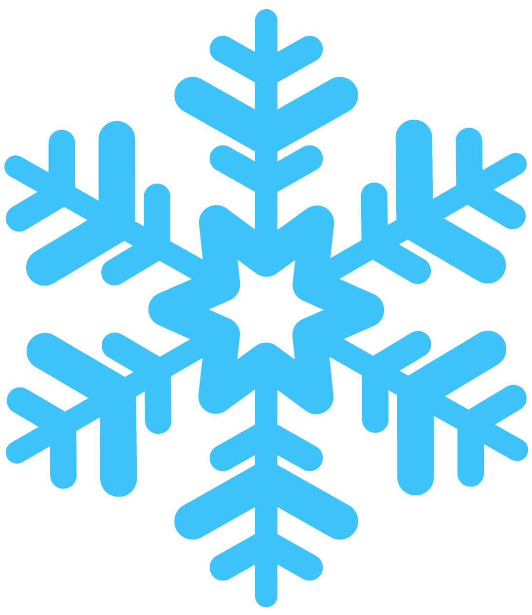 Snowflakes clipart cute. Snowflake clip transparent library
