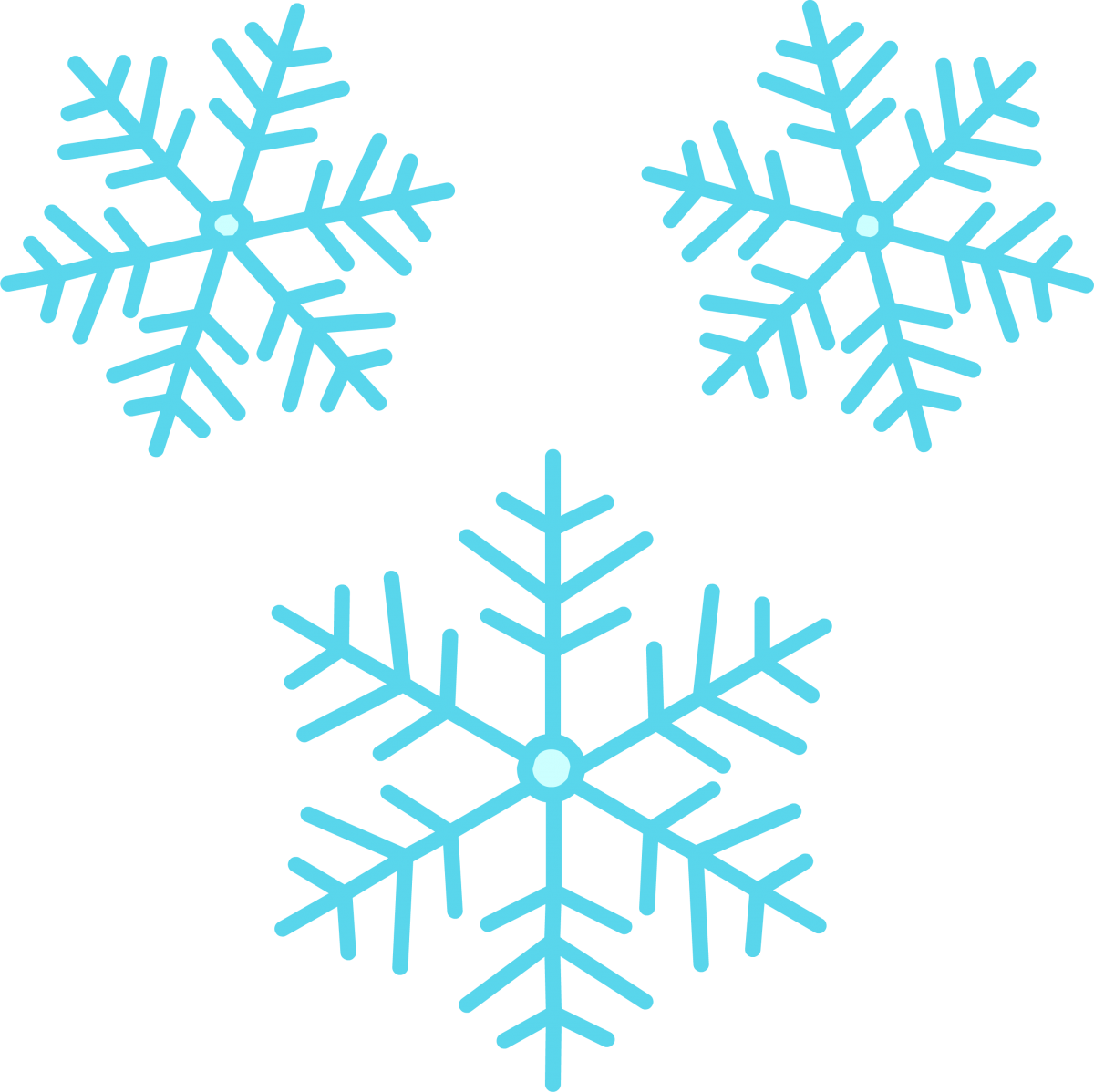 Snowflakes clipart cute. Snowflake image