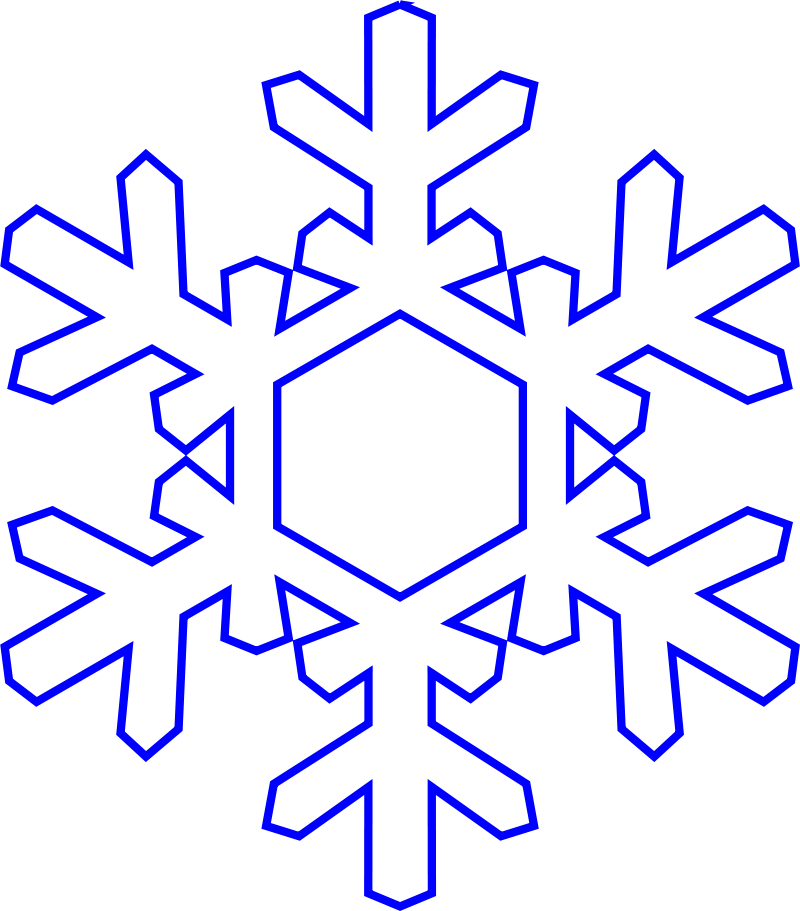 snowflakes clipart outline