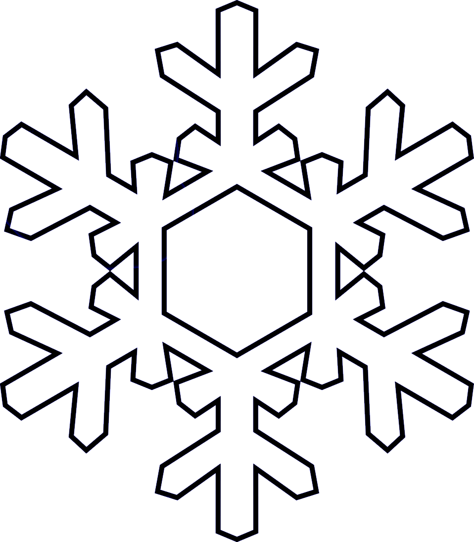 Snowflakes clipart black and white. Group of snowflake inn
