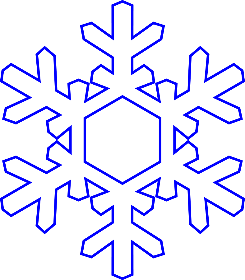 Snowflakes clipart large. Snowflake graphic transparent library