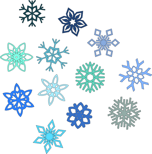 Snowflakes clipart printable. Snowflake library rr collections