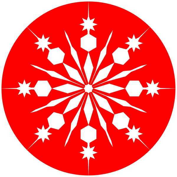 Snowflakes clipart red. Free snowflake cliparts download