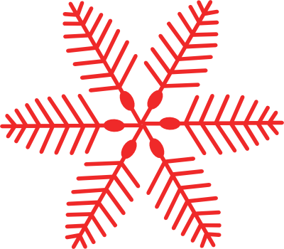 Snowflakes clipart vintage. Free red snowflake cliparts