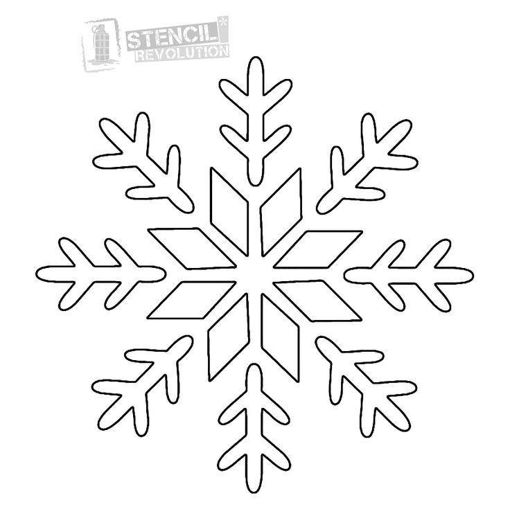 Snowflakes clipart stencil. Best images on