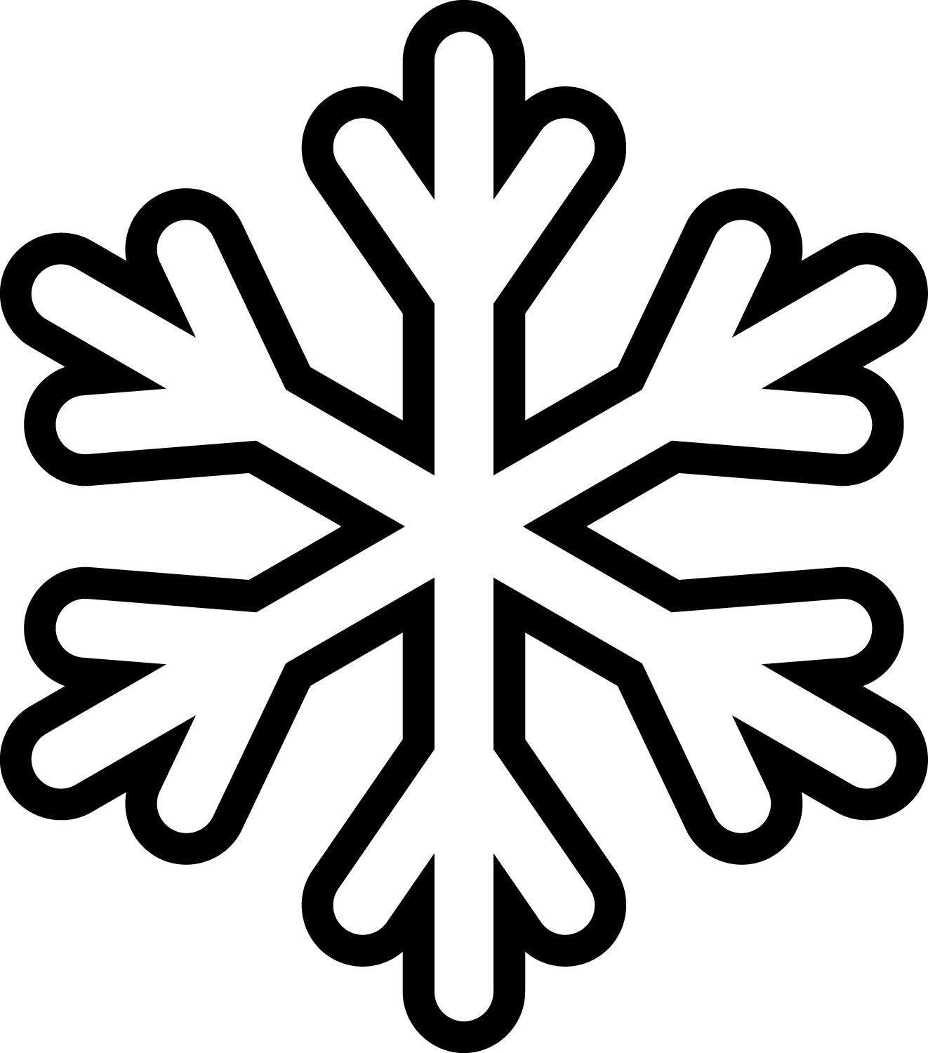snowflake outline png
