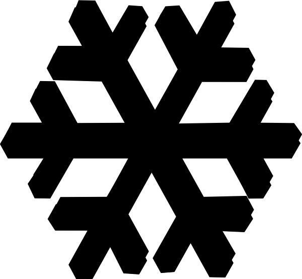 Snowflakes png black. Snowflake white and rr
