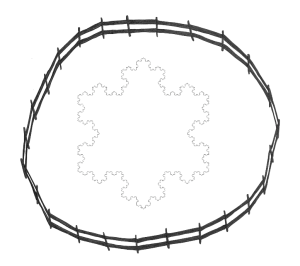 Snowflakes png circle. Koch snowflake go figure