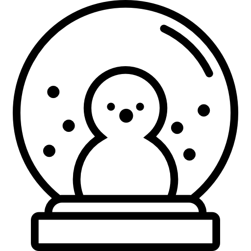 Snowglobe drawing. Snow globe free shapes