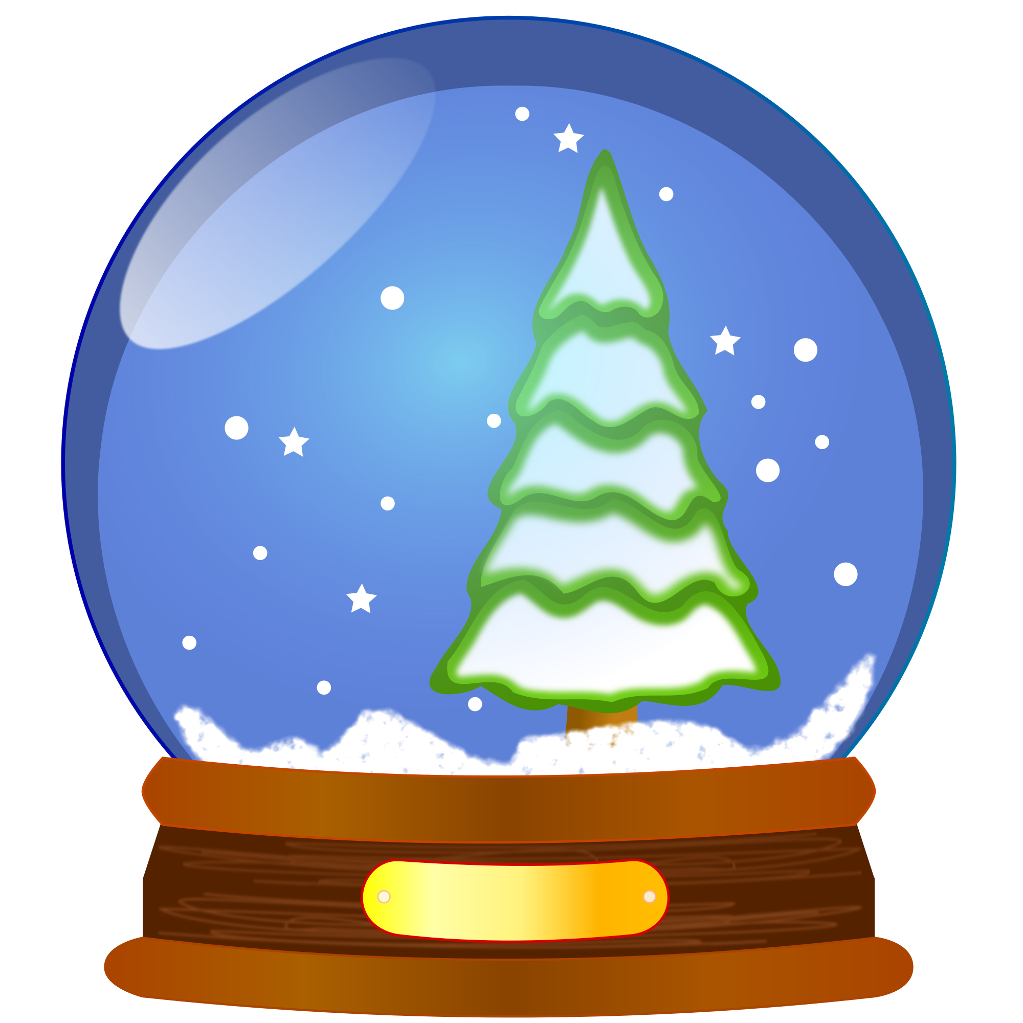 snowglobe drawing cartoon
