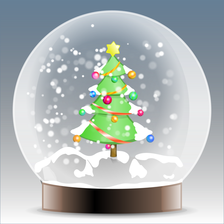 Snowglobe drawing eve. Santa claus snow globes