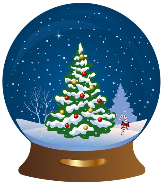 Snowglobe drawing city. Christmas tree transparent png