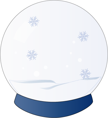 Snowball vector snow globe. Clipart all about christmas