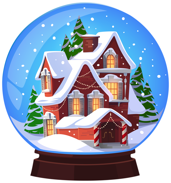 Snowglobe drawing pencil. Christmas house transparent png