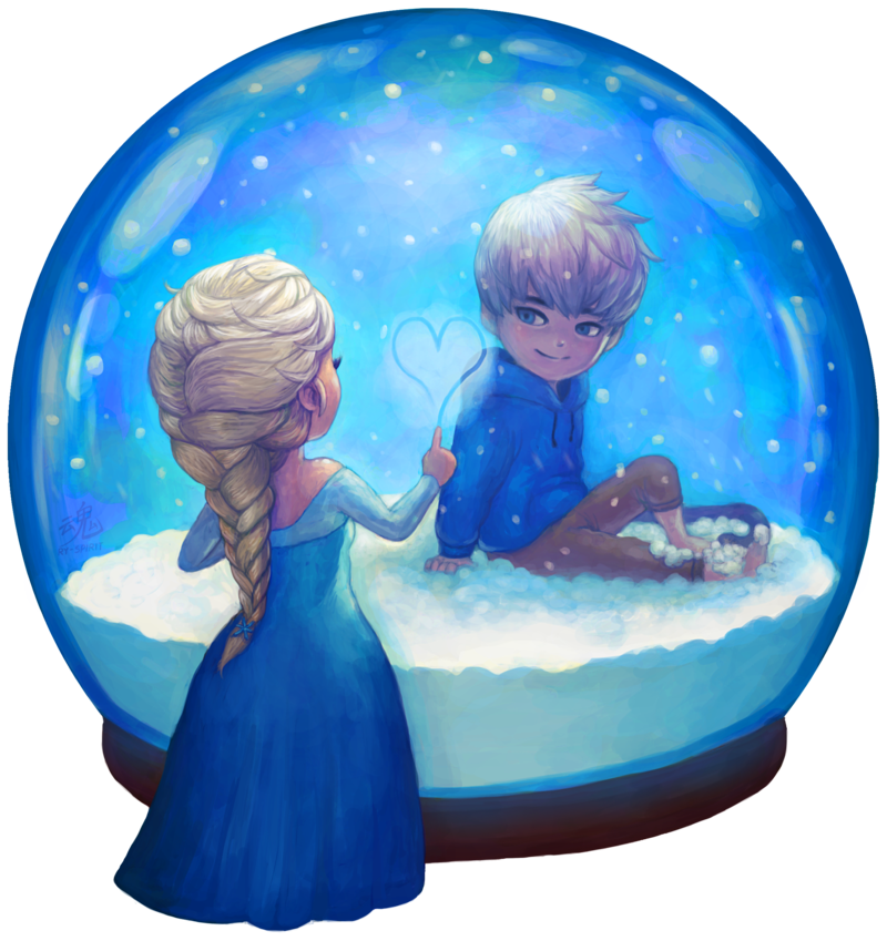 Snowglobe drawing pencil. Two worlds by ry