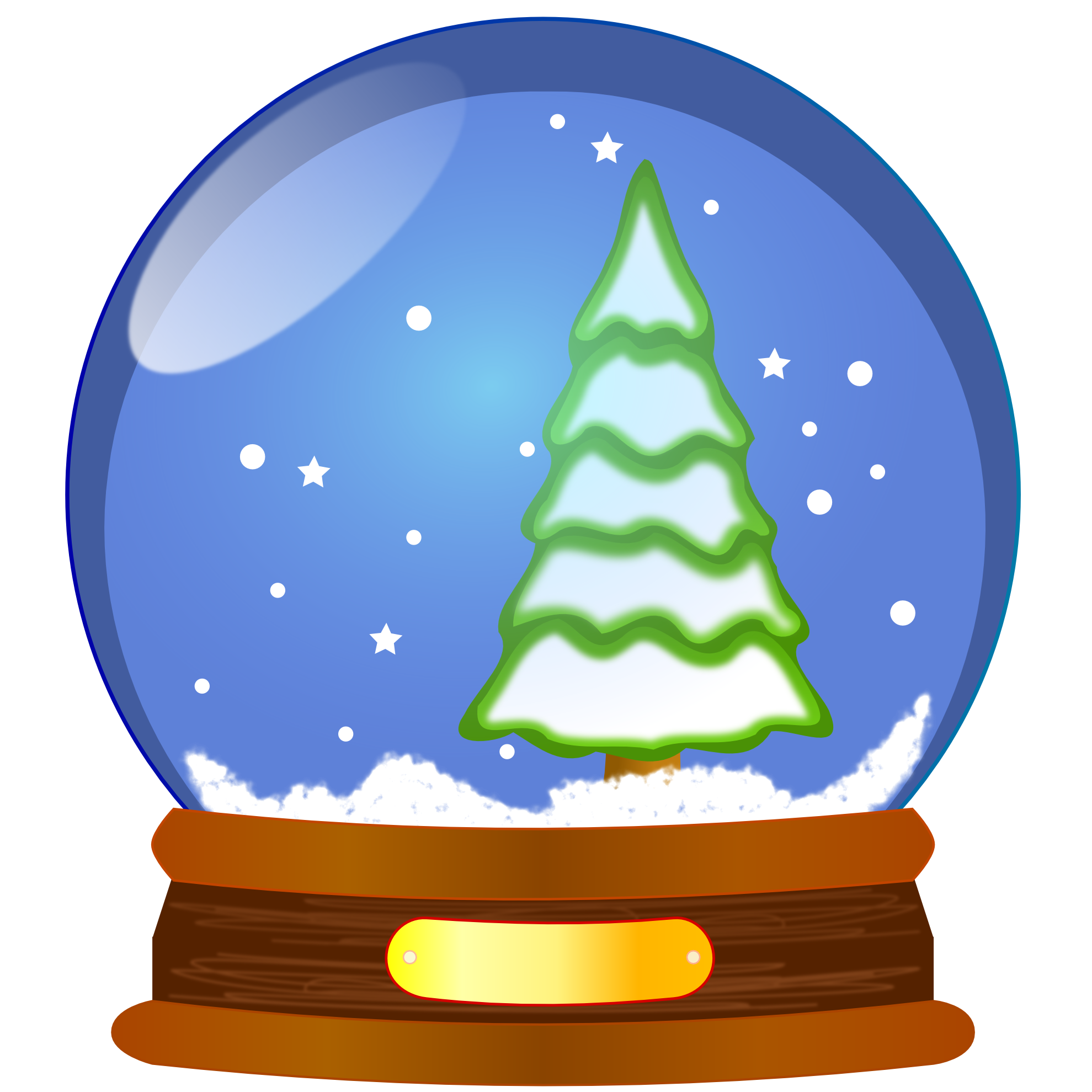 Snowglobe drawing realistic. Winter snow globe clipart