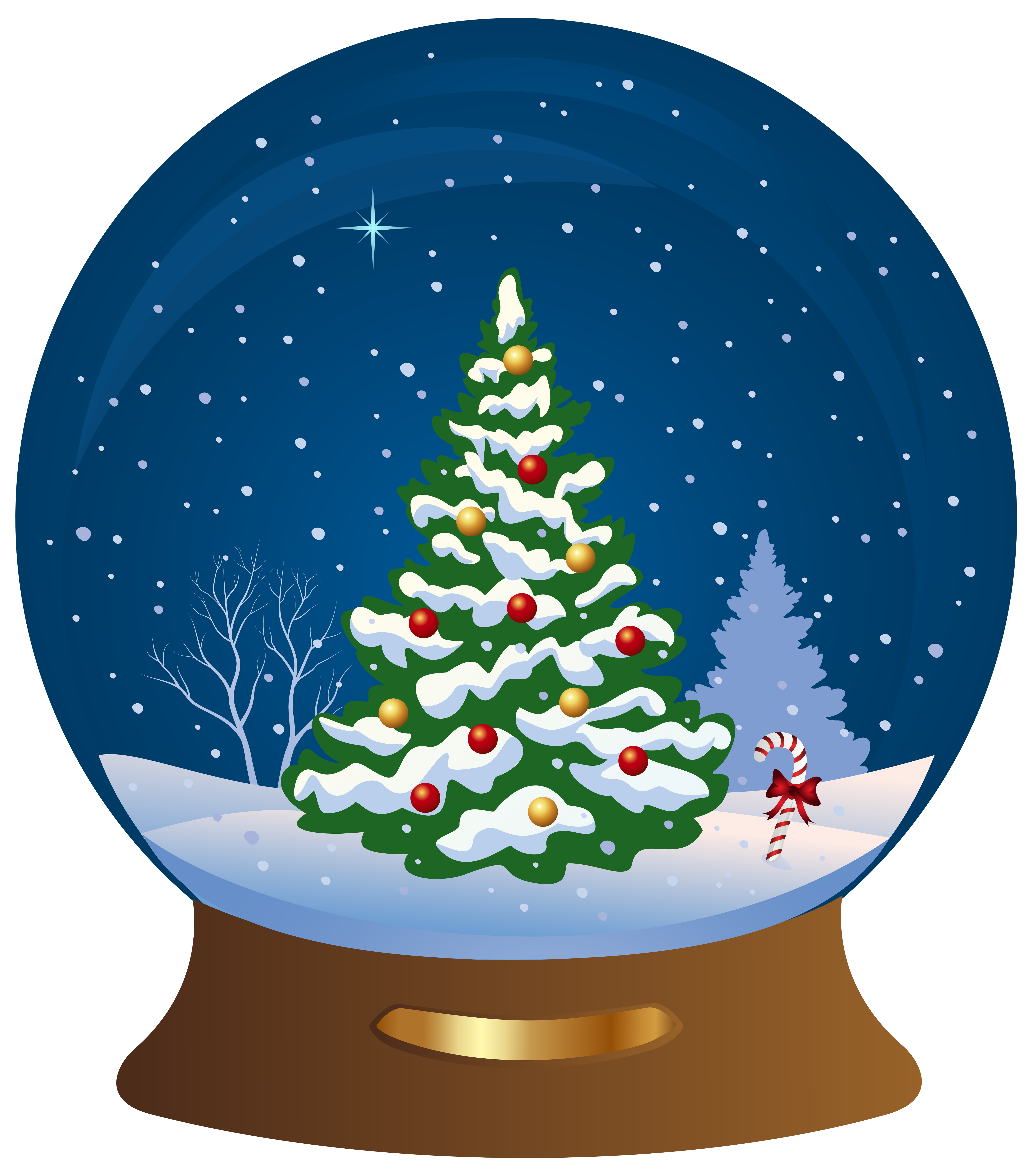 Snowglobe drawing scenery. Collection of christmas