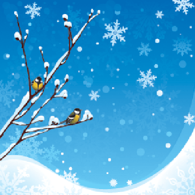 snowing clipart scenery