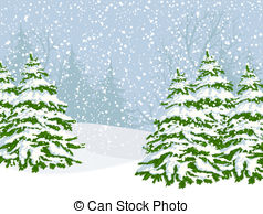 Woods clipart snowy. Winter vector illustrations clip vector download