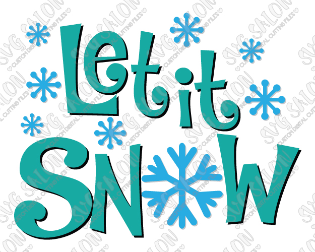 Snowing clipart turquoise. Let it snow at