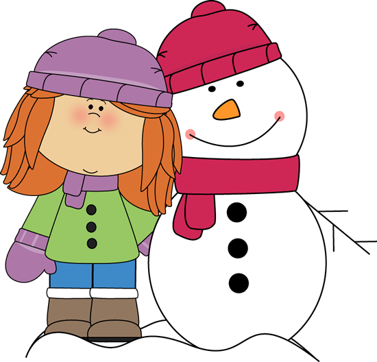 Snowing clipart winter outfit. Clip art images girl