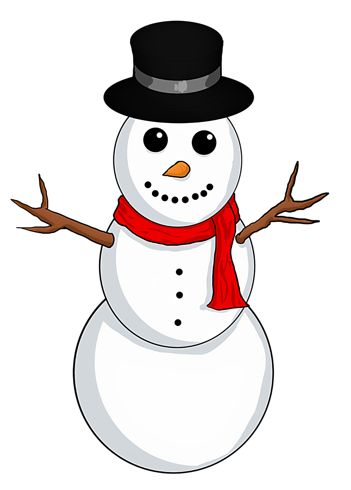 Hat svg snow man. Snowman clipart free download
