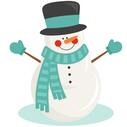 Snow svg clip art. Snowman winter scrapbook cut
