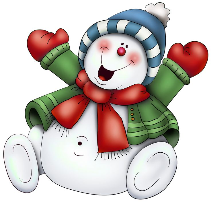Christmas clipart cartoon. Snowman happy new year