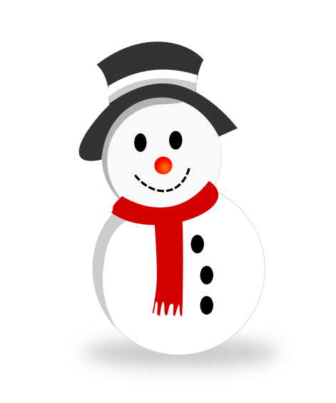 Vector snowman. Free christmas clipart download