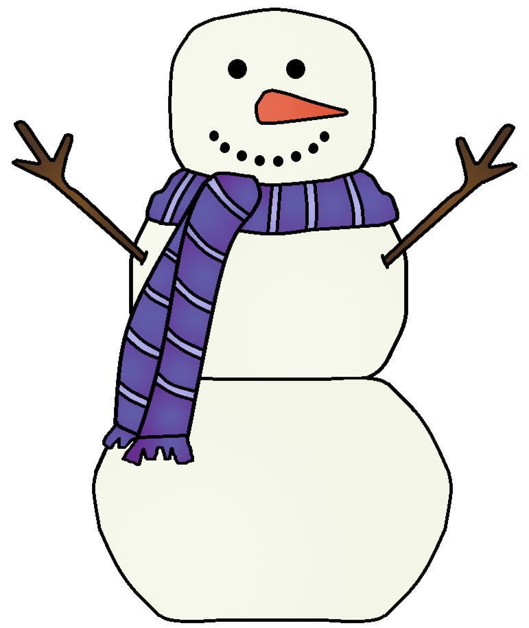 Snowman clipart template. Printables graphics by ruth