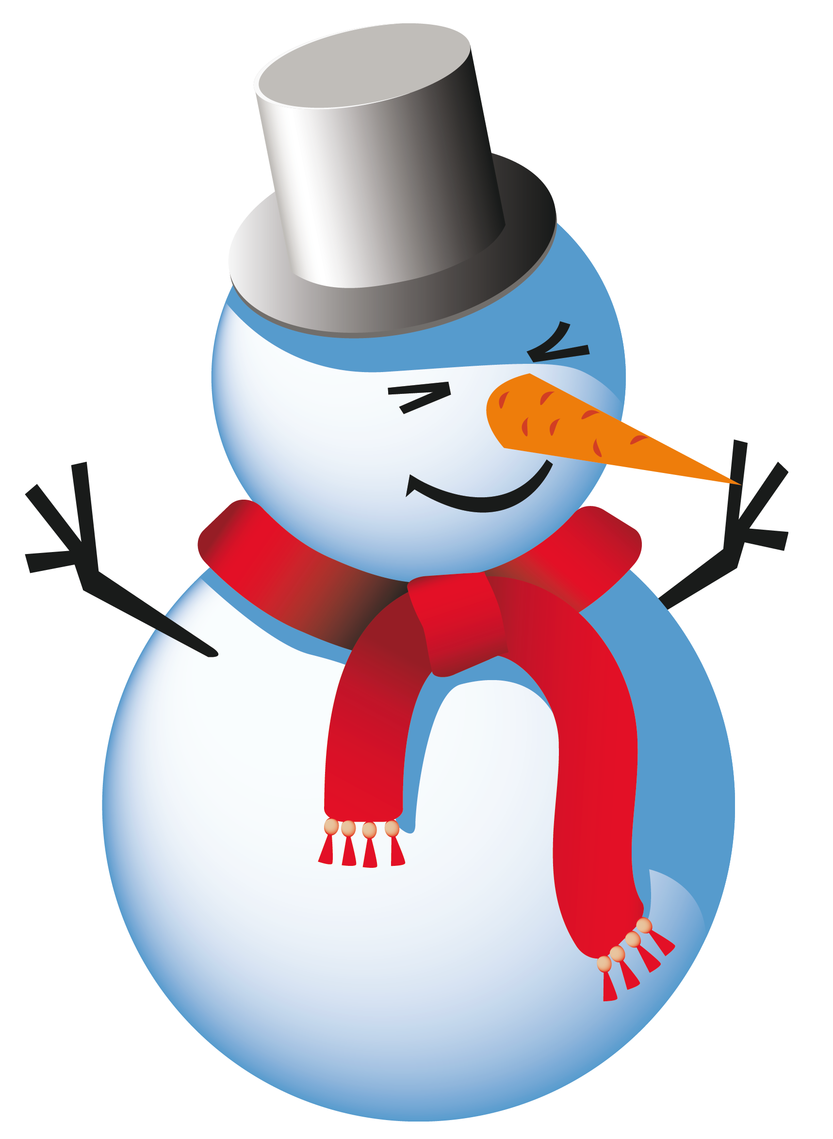 Vector snowman clipart. Free background cliparts download