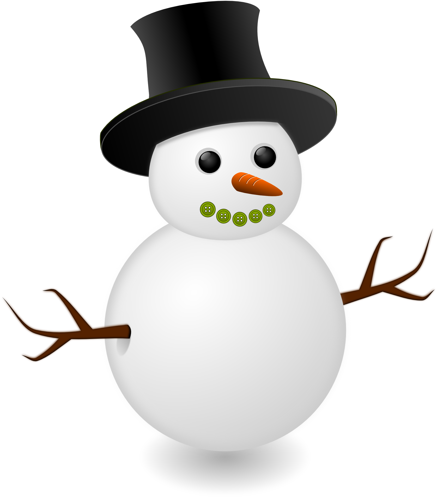 Vector snowman real. Free png transparent images