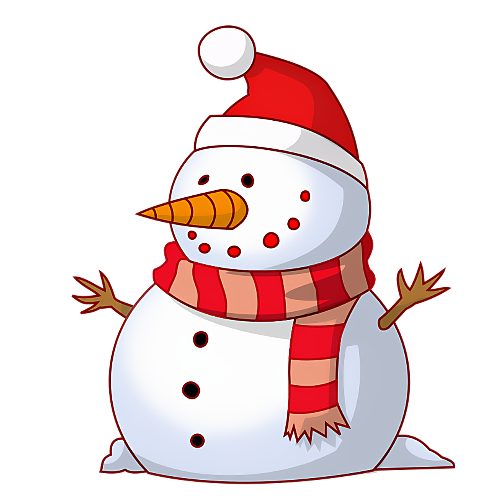 merry christmas clipart snowman