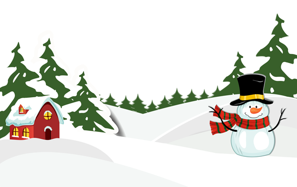 Snowy clipart. Ground with snowman png