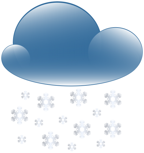 Snowy clipart. Cloud weather icon png