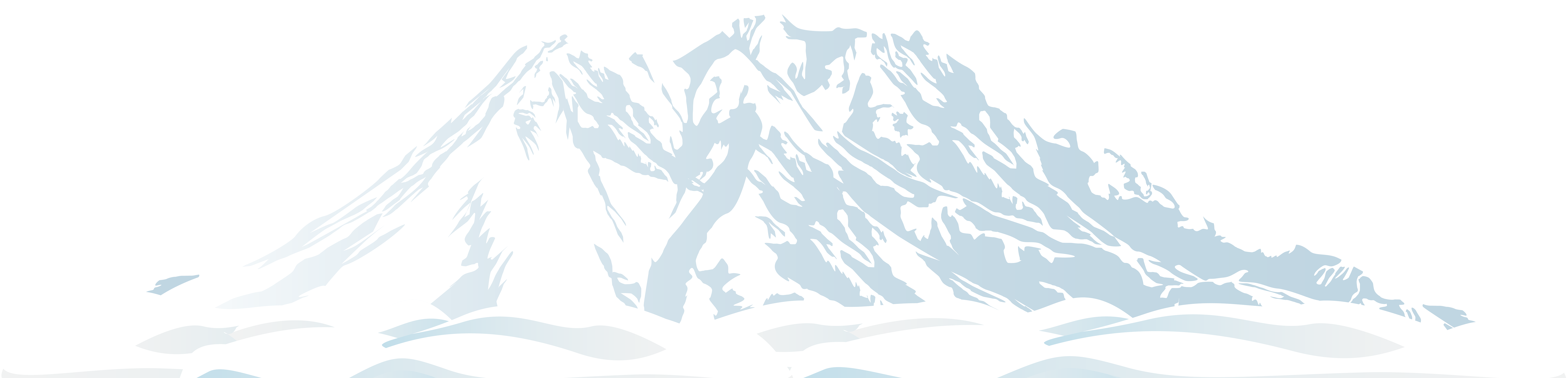Snowy mountain png. Winter clip art image
